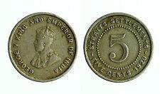 pcc1721_1) Straits Settlements - 5 Cents 1920 - King George V