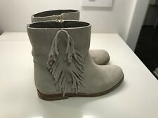 BONPOINT Boots Girl Suede Leather Gray Zipper Size 29