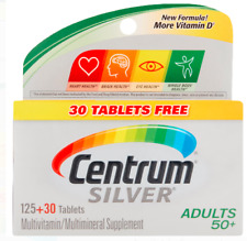 CENTRUM SILVER Multivitamin 125 + 30 Free  tablets ADULTS 50+ EXP 03/2021 And Up