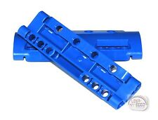 LEGO Technic - 2 x Curved Panel - 10 Pin Holes - 11 x 3 - Blue - New - (NXT,EV3)