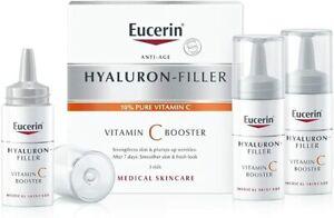 EUCERIN ANTI-AGE HYALURON FILLER VITAMIN C BOOSTER - 3 VIALS Expiry 07/2021