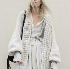 Women's Korean Style Casual Loose Solid Thick Knitting Cardigan Sweather Coat
