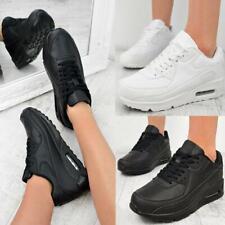 Mujer Hombre Negro Blanco Zapatos para Caminar Trabajo Zapatillas Tenis Correr Gimnasio Tamaño
