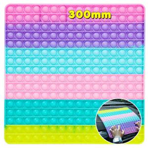 30cm Push Pop Bubble Kids Toy Big Rainbow 256 Bubbles Stress Fidget Autism Toy