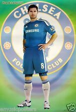 """FRANK LAMPARD """"STANDING IN FRONT OF CHELSEA F.C. LOGO"""" FOOTBALL POSTER - Soccer"""