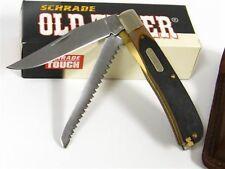 Couteau Schrade Old Timer Buzz Saw Trapper 2 Lames Acier 400 SCH97OT