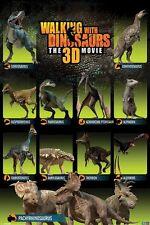 DINOSAURS POSTER ~ WALKING WITH 11 SPECIES 24x36 TV BBC Movie Alexorins Dinosaur