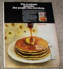 1971 ad page - Betty Crocker Pancake mix - pancakes daisies cute vintage food AD