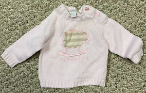 Girls Burberry 3 Month Sweater