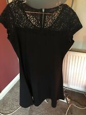 ladies black lace dress size 16