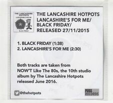 (HD201) The Lancashire Hotpots, Lancashire's For Me - 2015 DJ CD