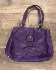 Coach Handbag Purple Authentic Shoulder Bag