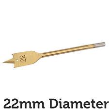 PRO 22mm x 150mm Titanio Acciaio Rivestito Piatto/Spade NUCLEO TRAPANO FORO CUTTER Hex