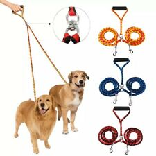 Coupler Double Two Dog Training Braided Dual Leash Tangle Safety Leash Walking