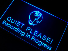 Recording in Progress Quiet Please LED Neon Light Sign have 7 color to choose