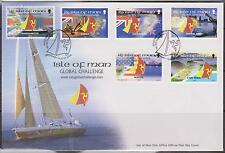 GB-Isla de Man 2000 Global Challenge Yacht Race SG 901/6 Fdc Barcos De Vela