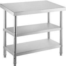 Vevor Commercial Stainless Steel Table Bbq Prep Table 48x18x33in Restaurant