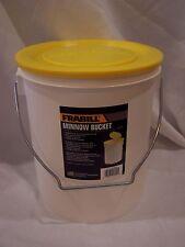 Plastic Frabill Deluxe Minnow Bucket Bait Pail Lid 11 qt Fish Live Fishing #4720
