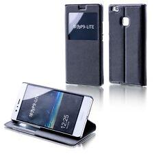 Funda Libro Tapa con Ventana negro para Huawei Honor 6x