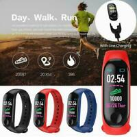 Smart Watch Blood Pressure Heart Rate Monitor Bracelet iOS For Android D8O3
