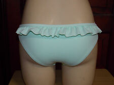 Victoria's Secret~Sexy~Ruffle~Low-Rise~Hipkini~Bikini~Bottoms~Small~Mint Green