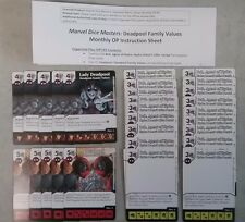 Dice Masters Deadpool Family Values Op Kit 5 Deadpool, 5 Lady Deadpool, 20 Bob