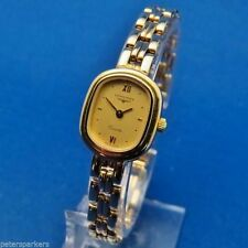 Quartz (Battery) Solid Gold Strap Oval Wristwatches