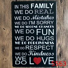 Metal Tin Sign in this family...we do... Bar Pub Retro Poster Cafe ART
