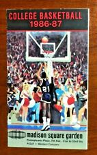 1986 - 87 Madison Square Garden College Basketball Pocket Schedule