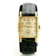 Vintage Gruen Veri-Thin Wrist Watch with Triple Faceted Crystal & Fancy Case
