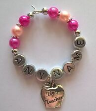 Unique Personalised No1 Teacher Wine Glass Charm - Thank You Gift - Any Name