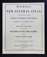 1873 Mitchell's New General Atlas Title Page - Philadelphia Augustus Mitchell