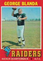1971 Topps # 39 George Blanda - Oakland Raiders -- Box 708-425