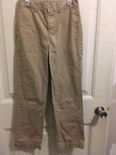 Ralph Lauren Polo •Lightweight• Chino Pants •Khaki• Boys Sz 12 *See Pics &m