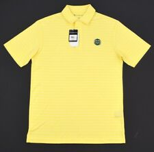 NWT OXFORD GOLF Popcorn Yellow Colorado State Rams Short Sleeve Polo Shirt ~ S