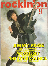 Rare Led Zeppelin, Jimmy Page  Japan cover magazine. 1988 Rockin'on