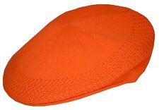 D&Y Men's Mesh Ivy Cabbie Cap Crochet Hat Medium Orange