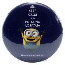 "Despicable Me Keep Calm And Potakino Lo Patata Translation Yay Evil 1.25"" Button"