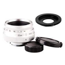 Mini 25mm F1.8 APS-C Television CCTV Lens +16mm C Mount Movie Lens to Sony E 5P3