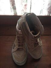 VANS Pink Glitz Zip Back High Top Skate Shoes Kids 5 Completely Dope! Rare
