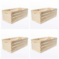 Large Wood Wooden Crate Box 4 Craft Storage Decorative Boxes Lot Vintage Style