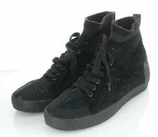 25-13 NEW $225 Women's Sz 41 M Ash Ninja Kashmere Tweed Knit Sneakers - Black