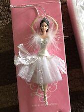Barbie Doll as the Swan Queen in Swan Lake. Porcelain Ornament.  Mattel 1998 NIB