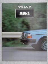 Volvo 200 Series 264 Saloon UK Sales brochure 1981 - GL and GLE models.