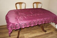 Pretty Red Embroidered Tablecloth 130cm  180cm Christmas Party