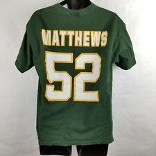 Clay Matthews Green Bay Packers Jersey T Shirt Green Large