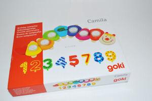 Goki Kindergeb Geburtstagsraupe Camila Teelichter Zahlen 53cm Geburtstagszug
