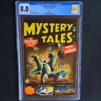 Mystery Tales #4 (Atlas 1952) 💥 CGC 8.0 💥 Only 1 Higher! Pre Code Horror PCH