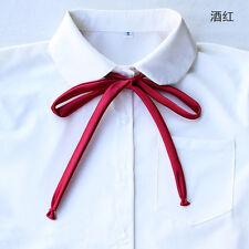 Wholesales Classic Japanese School Girl JK Uniform Neck Tie Cosplay Satin Bowtie