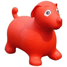New Happy Space Hopper Inflatable Big Red Dog Toy Sit and Ride Animal